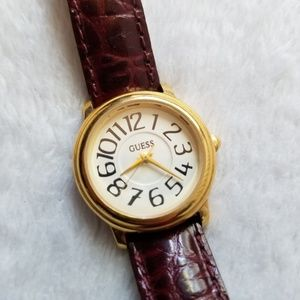 Guess womens vintage leather watch